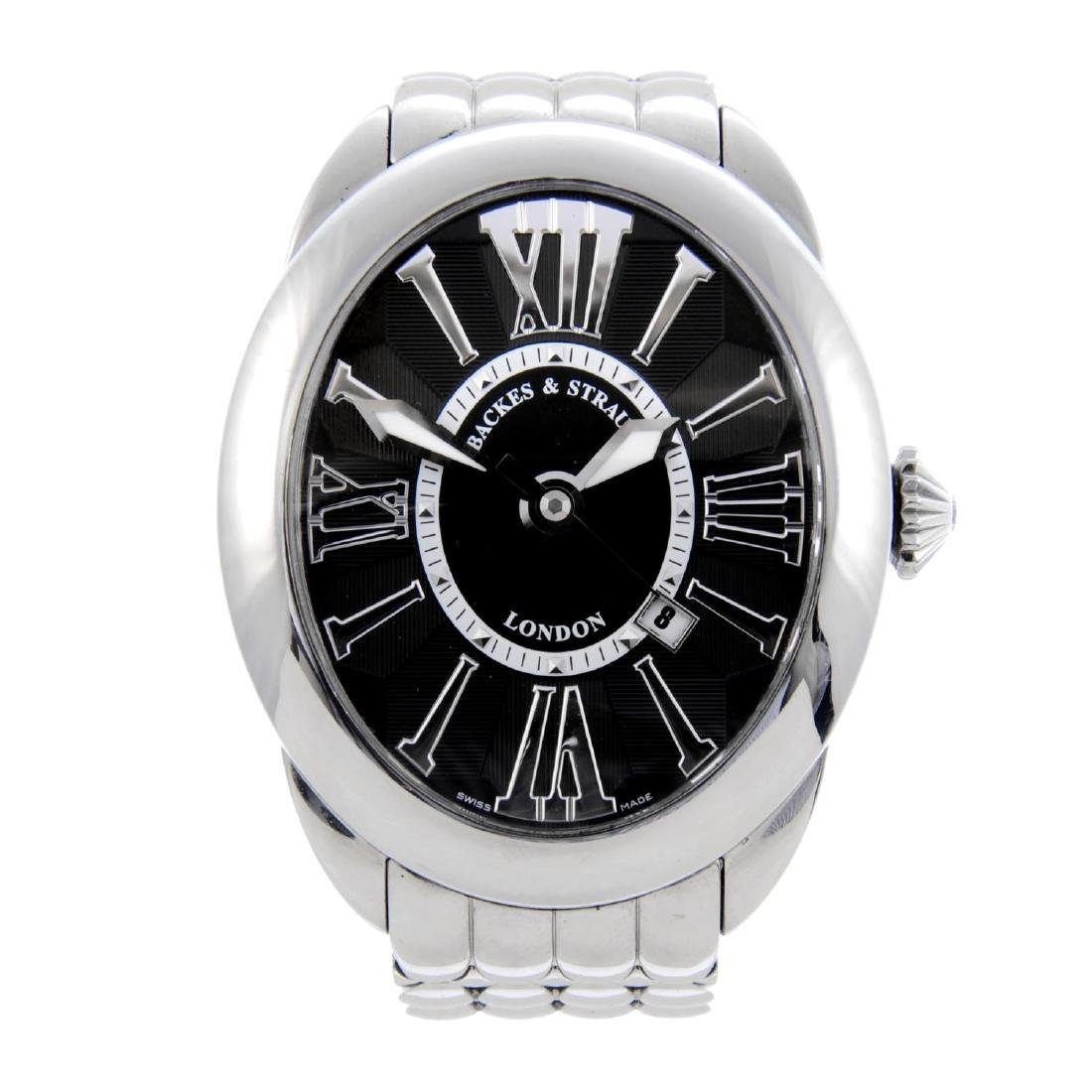 BACKES & STRAUSS - a gentleman's Regent bracelet watch.
