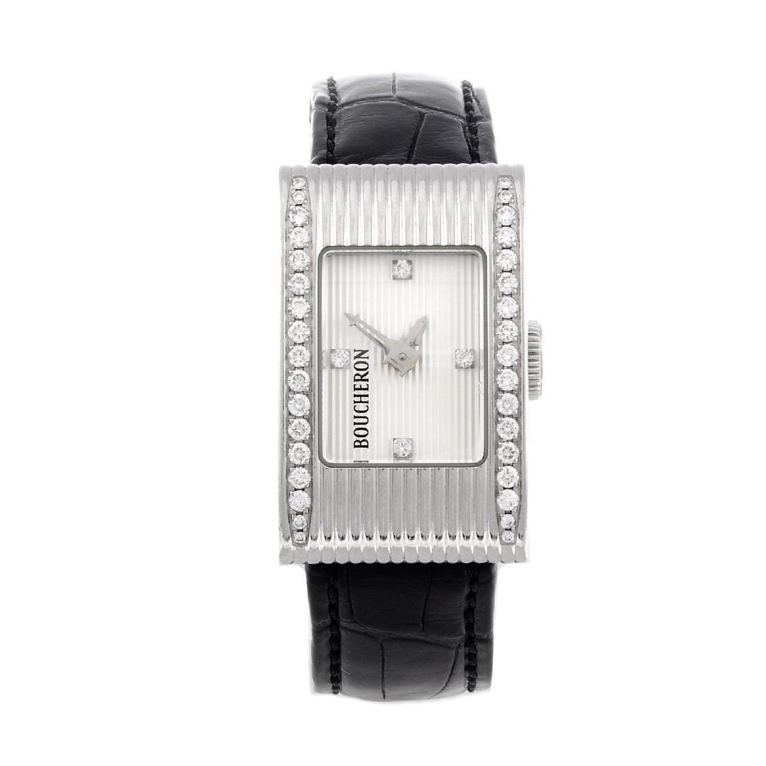BOUCHERON - a lady's wrist watch. Stainless steel