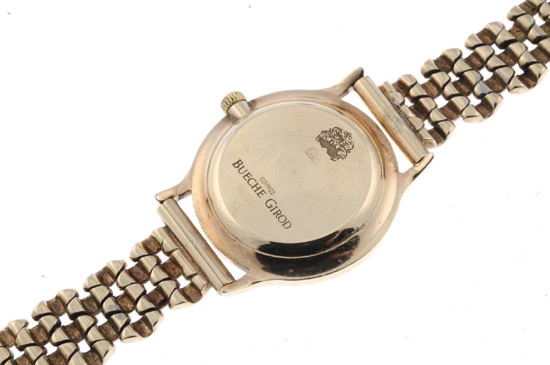 BUECHE GIROD - a lady's bracelet watch. Yellow metal - 4