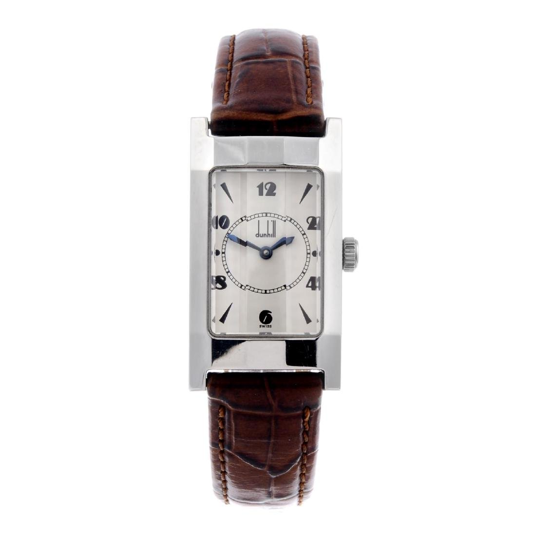 DUNHILL - a lady's Facet wrist watch. Stainless steel