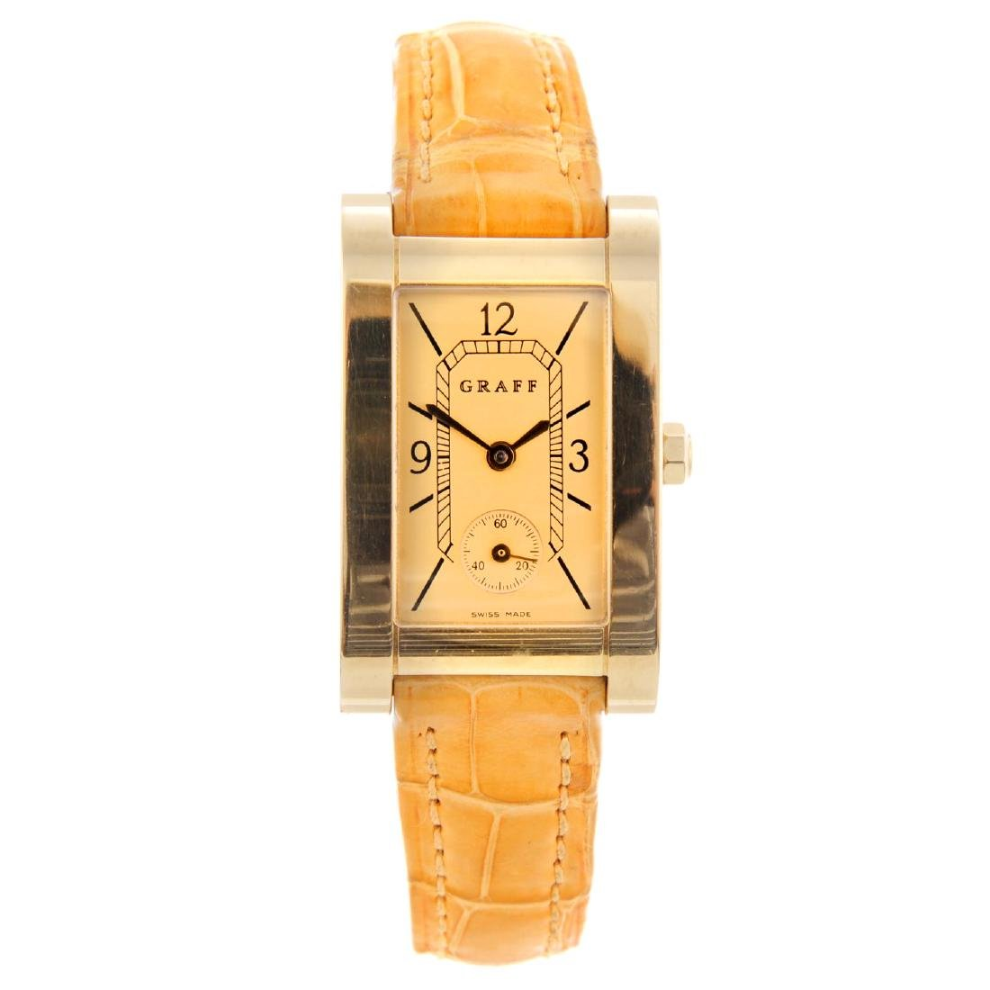 GRAFF - a lady's wrist watch. 18ct yellow gold case.