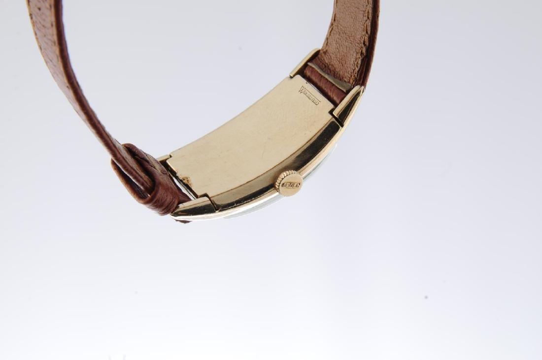GRUEN - a gentleman's Curvex wrist watch. Gold filled - 2