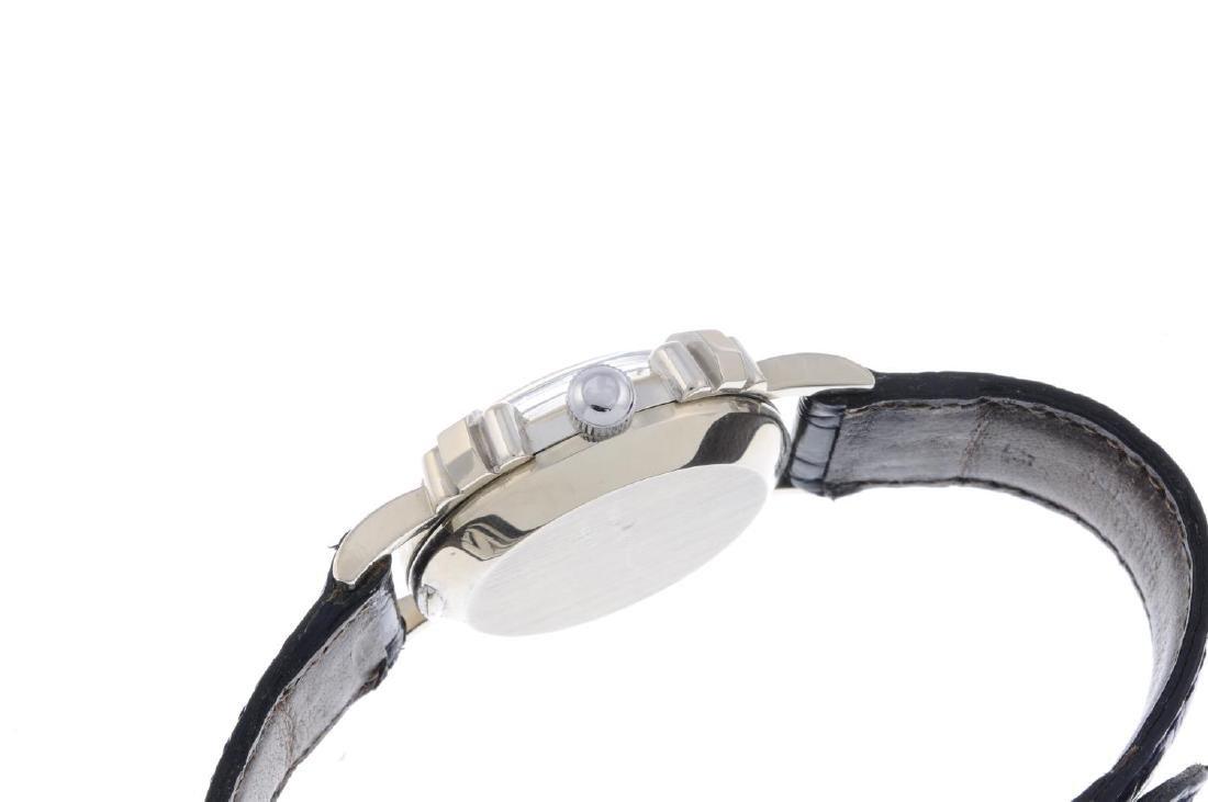GRUEN - a lady's wrist watch. White metal case, stamped - 2