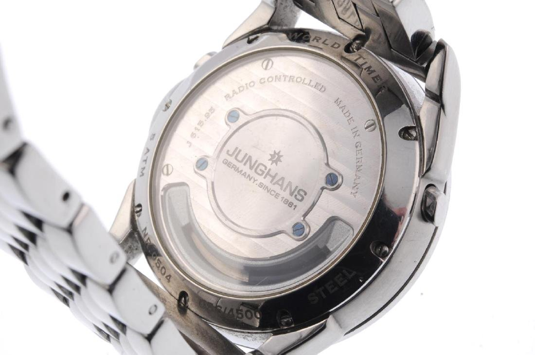 JUNGHANS - a gentleman's Mega Worldtimer bracelet - 3