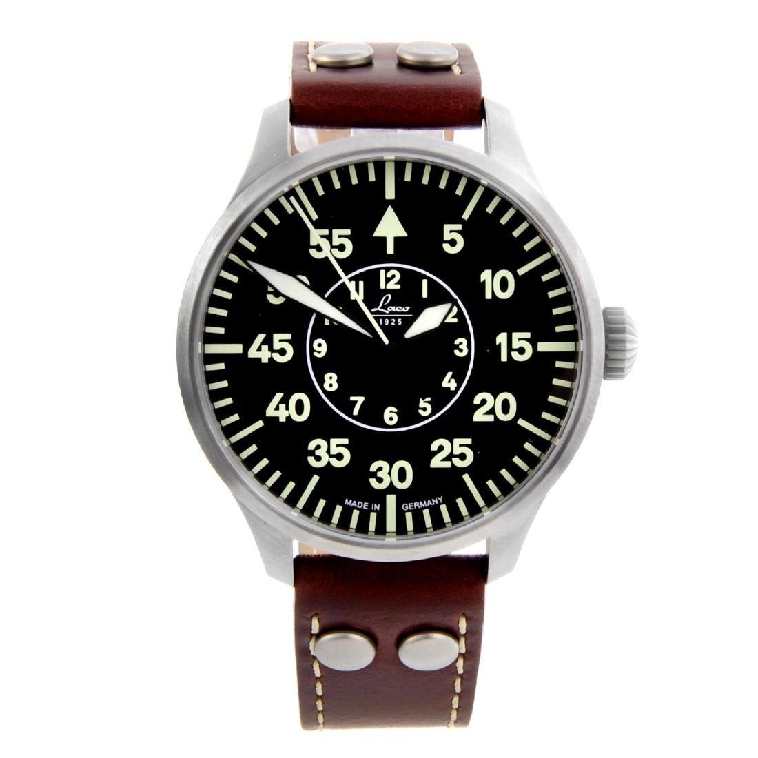 LACO - a gentleman's Aachen 39 wrist watch. Stainless