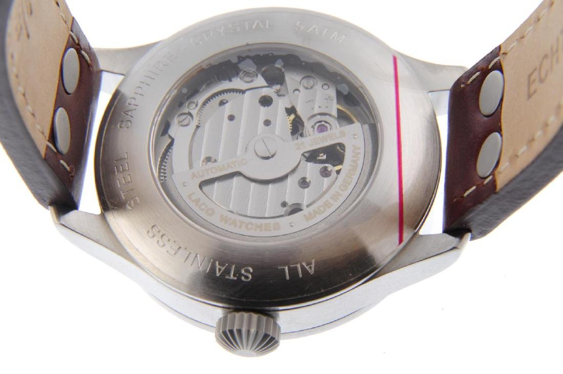 LACO - a gentleman's Aachen 39 wrist watch. Stainless - 3