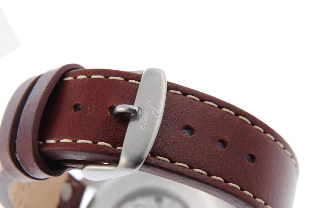 LACO - a gentleman's Augsburg 42 wrist watch. Stainless - 2