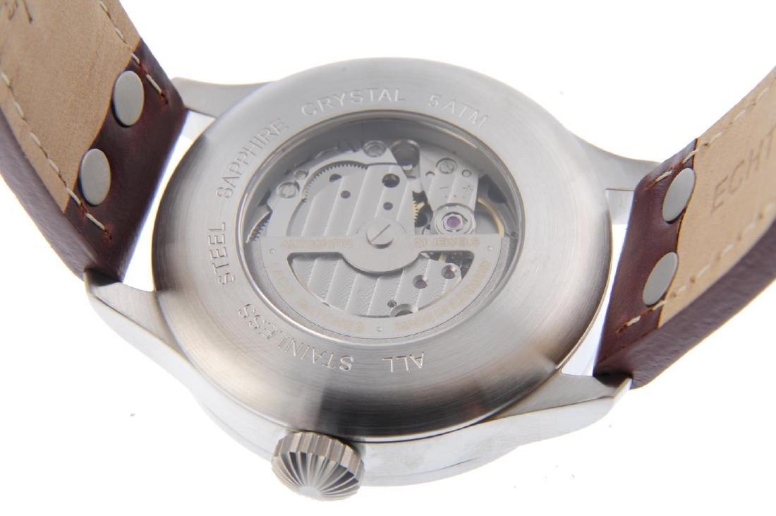 LACO - a gentleman's Augsburg 42 wrist watch. Stainless - 3