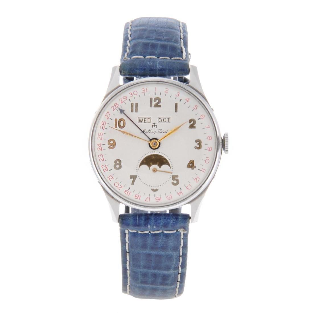 MATHEY-TISSOT - a gentleman's Triple Date wrist watch.