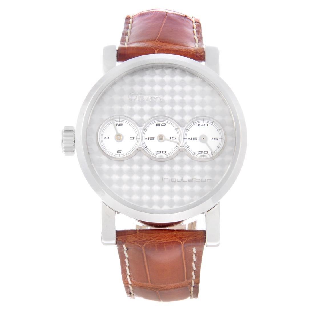 OTIUM - a gentleman's Trigulateur wrist watch.