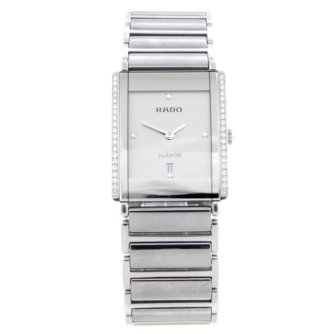 RADO - a mid-size DiaStar bracelet watch. Ceramic