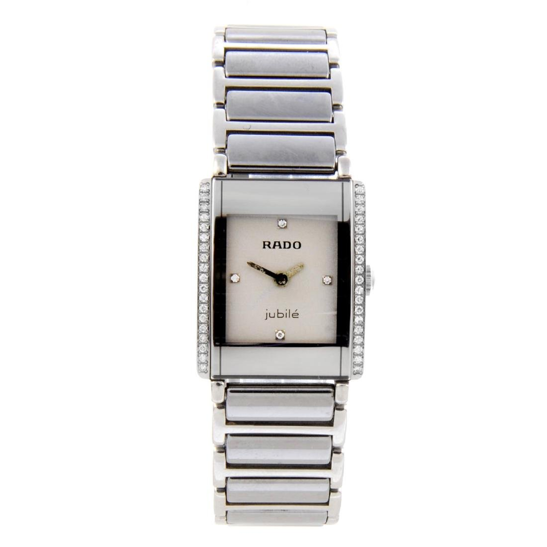 RADO - a lady's DiaStar bracelet watch. Factory diamond