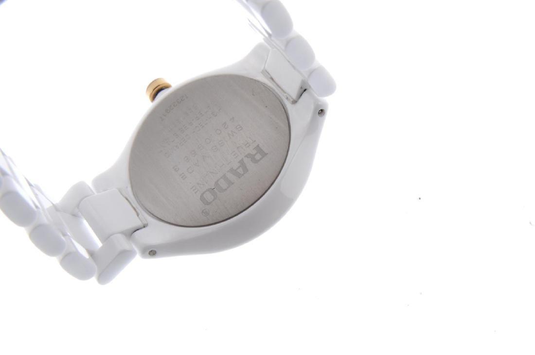 RADO - a lady's True Thinline bracelet watch. White - 3