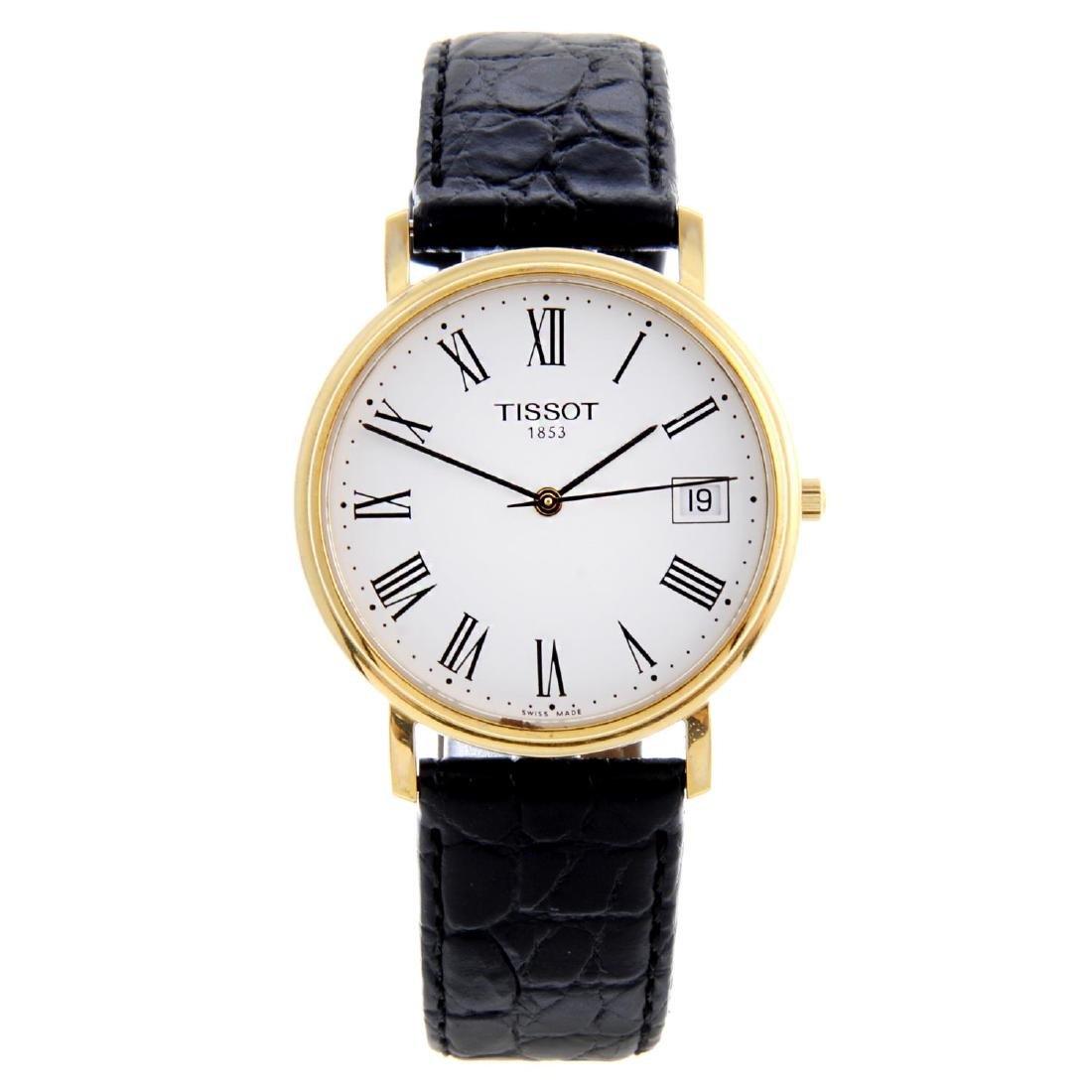 TISSOT - a gentleman's wrist watch. Gold plated case