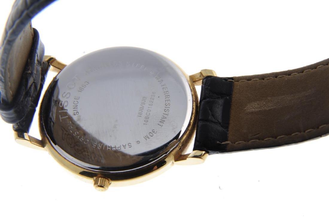 TISSOT - a gentleman's wrist watch. Gold plated case - 3