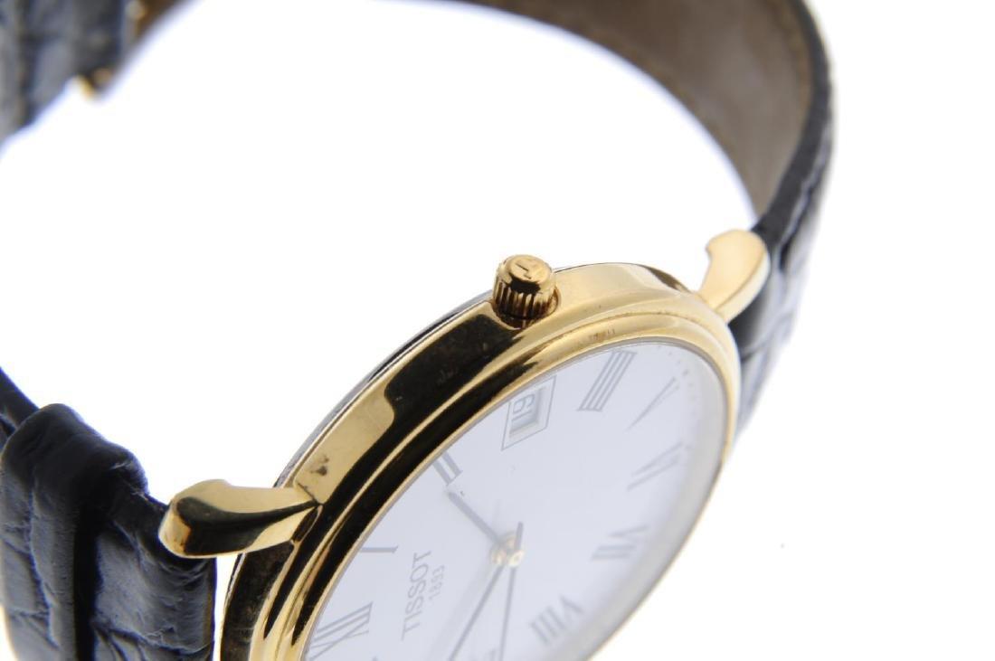 TISSOT - a gentleman's wrist watch. Gold plated case - 4