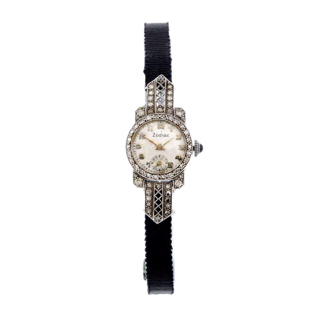ZODIAC - a lady's cocktail watch. Stainless steel