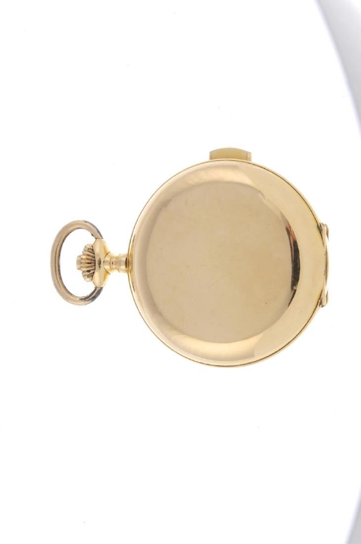 A full hunter quarter repeater pocket watch. Yellow - 2