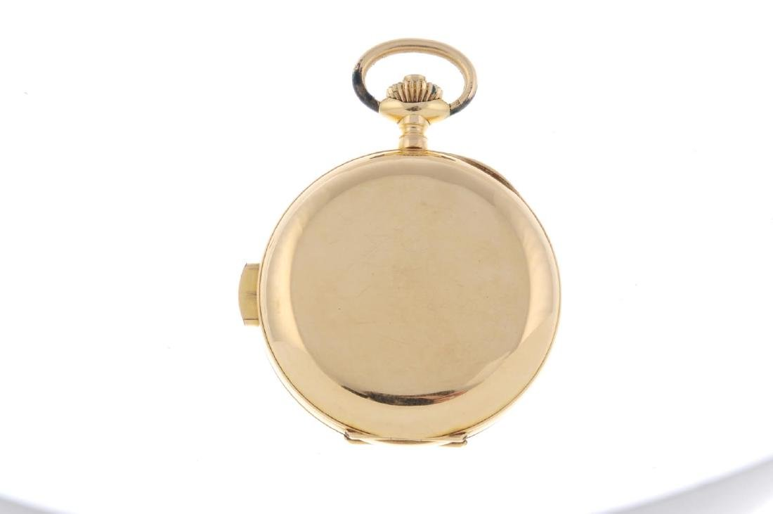 A full hunter quarter repeater pocket watch. Yellow - 3