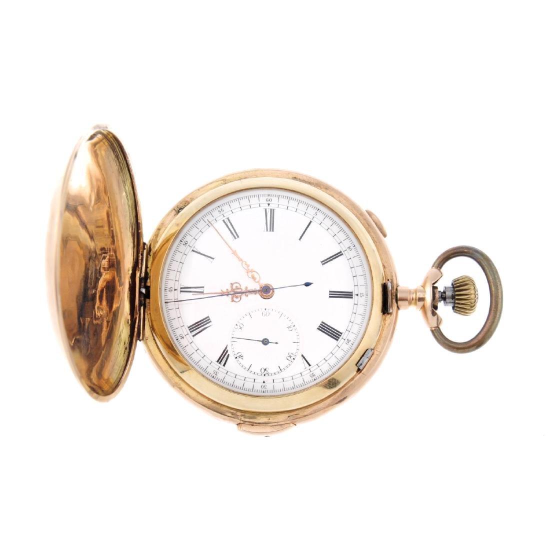 A full hunter quarter repeater chronograph pocket