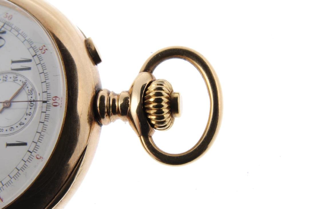 An open face chronograph pocket watch by C.L. Guinand. - 3
