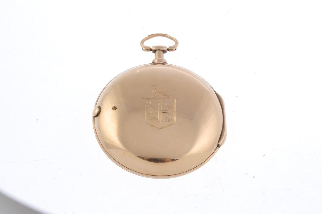 A pair case Masonic pocket watch by T. Earnshaw. 18ct - 2
