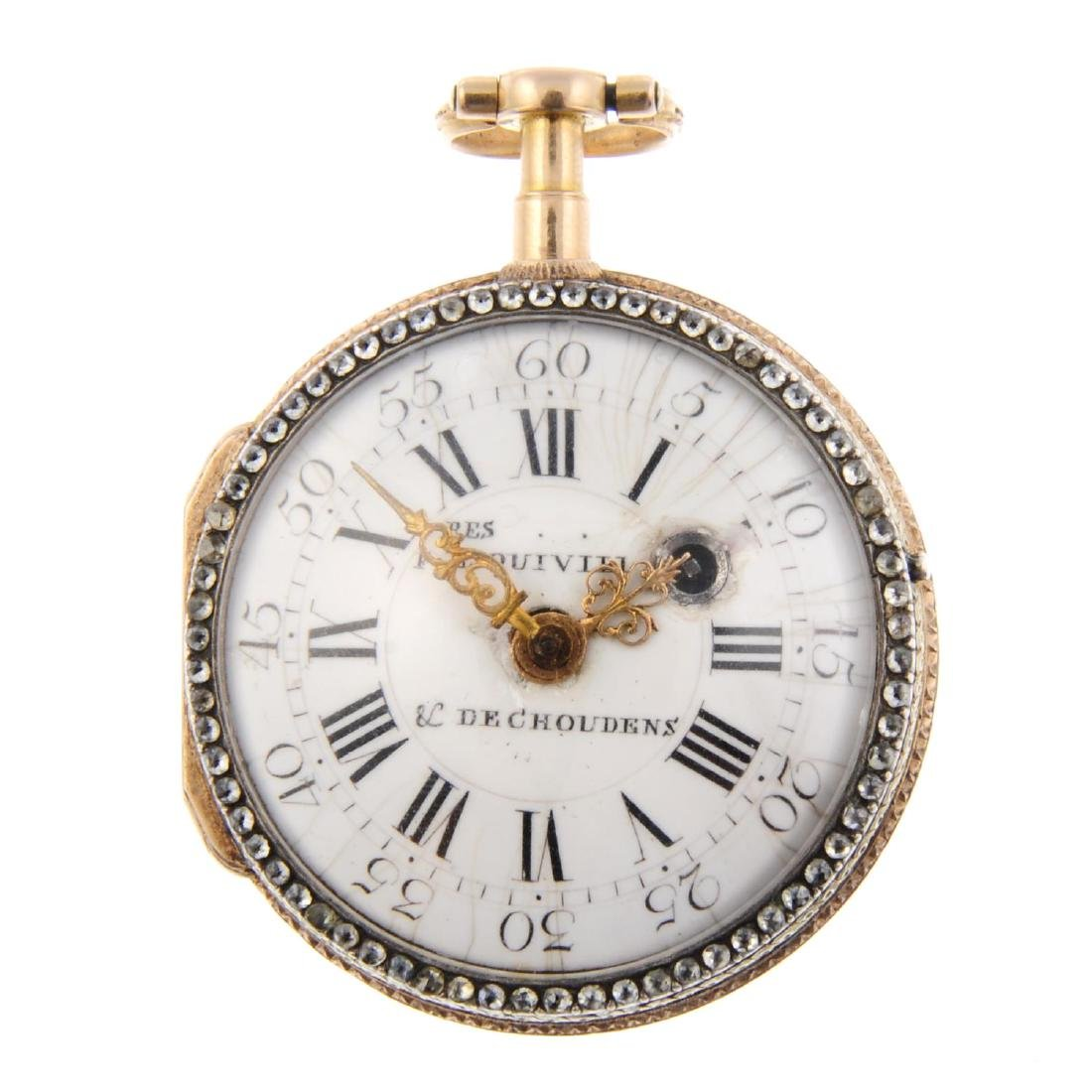 An open face pocket watch by Les Frères Esquivillon &