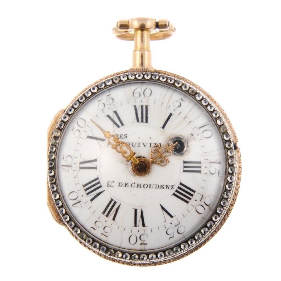 An open face pocket watch by Les Frères Esquivillon &