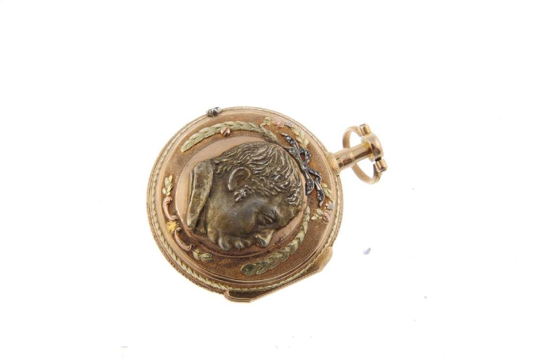 An open face pocket watch by Les Frères Esquivillon & - 2