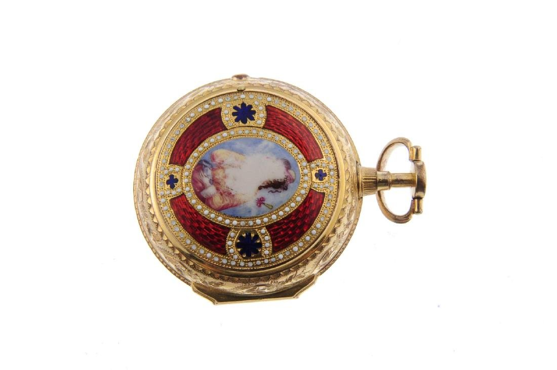 A pair case pocket watch by Thomas Perry. Gold plated - 2