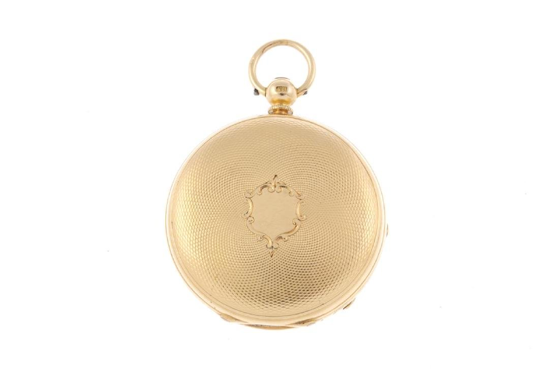 An open face pocket watch by G. Andrews. 18ct yellow - 2