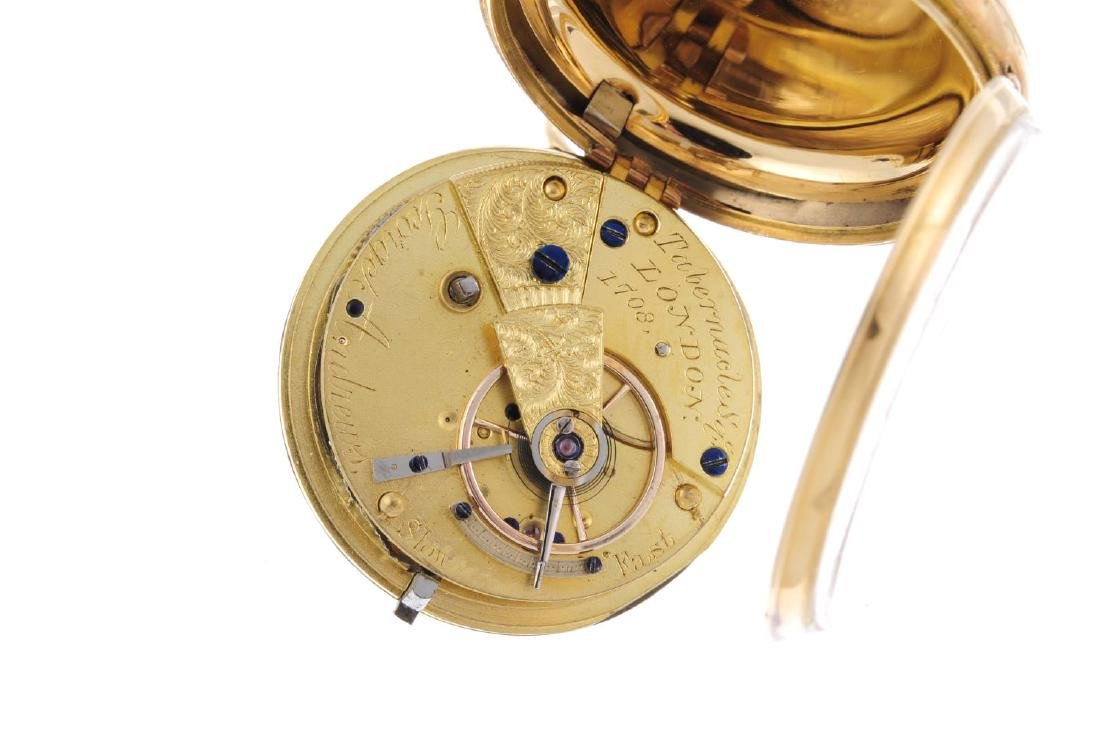 An open face pocket watch by G. Andrews. 18ct yellow - 3