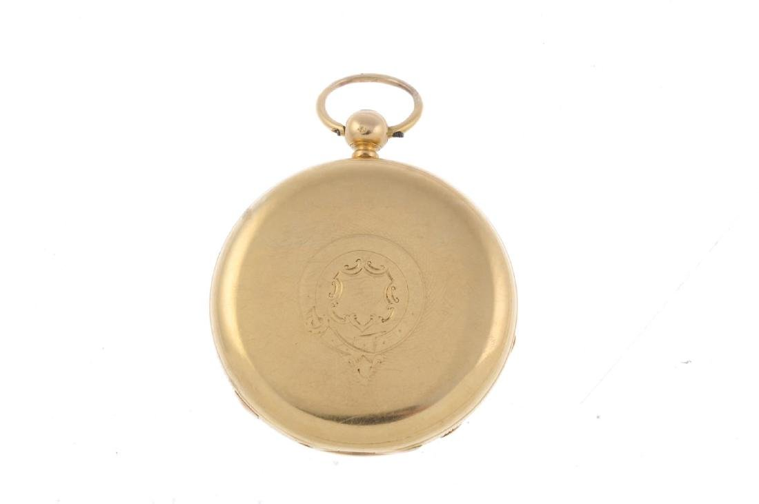 An open face centre seconds pocket watch by J. Haynes. - 2