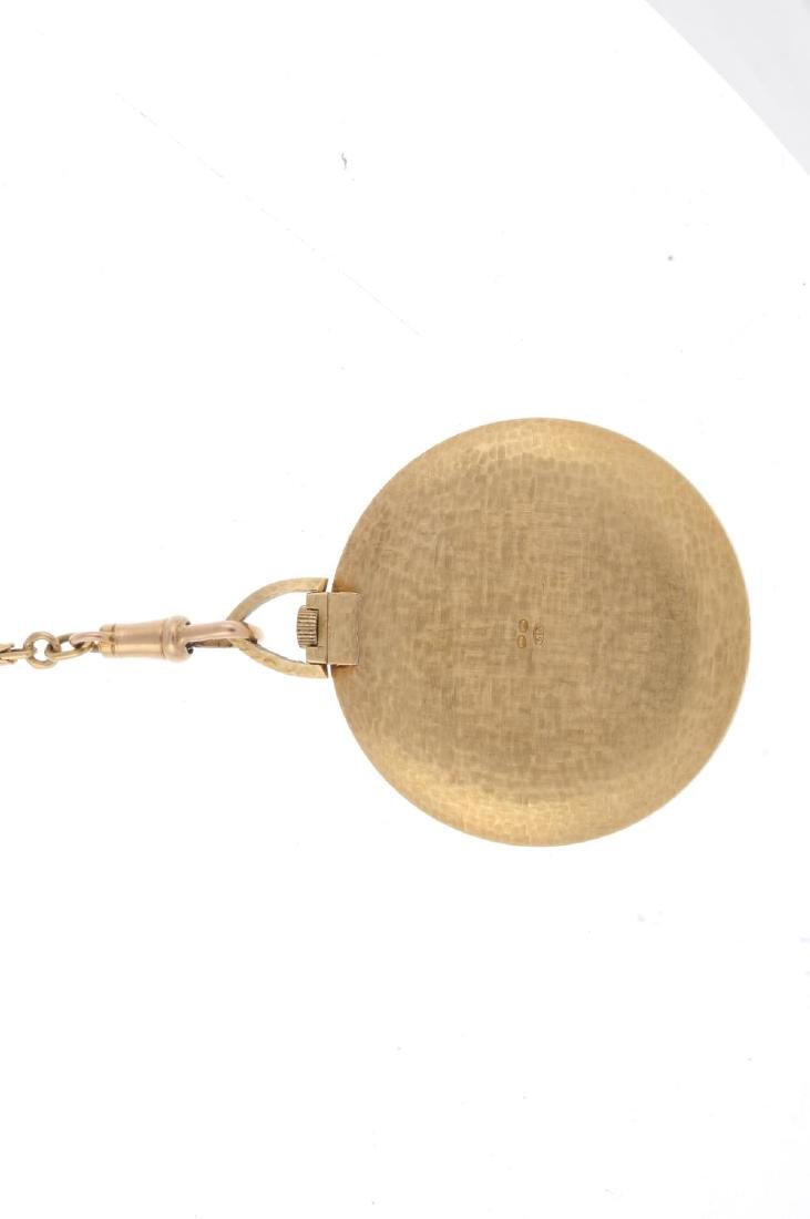 An open face pocket watch by Sarcar. Yellow metal case, - 2