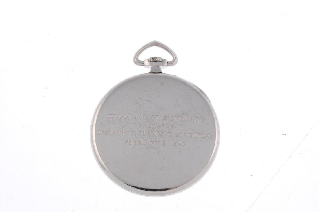 An open face pocket watch by Tiffany & Co. White metal - 2