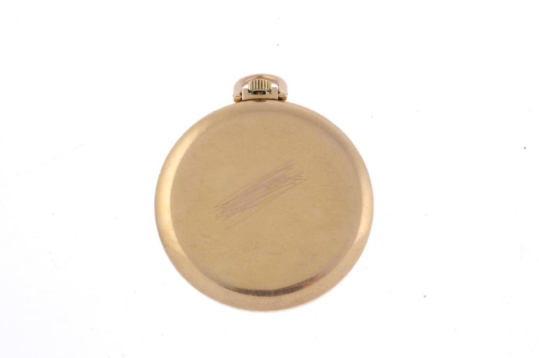 An open face pocket watch by IWC. Yellow metal case, - 2