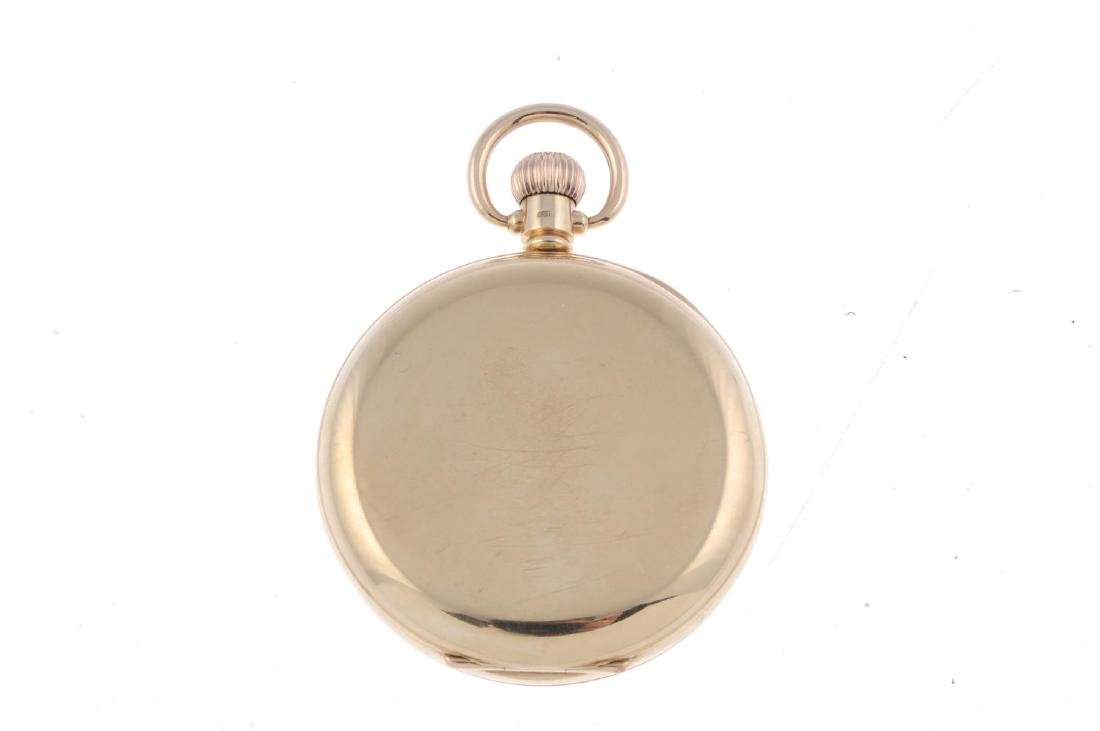 An open face pocket watch. 9ct yellow gold case with - 2