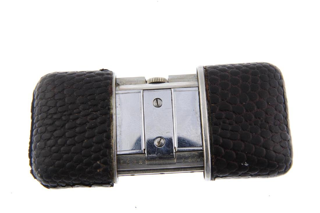 An Ermeto purse watch by Movado. Stainless steel - 2