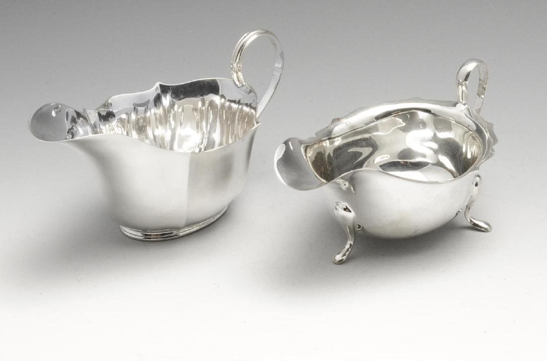 A 1930's silver sauce boat, of plain typical form with
