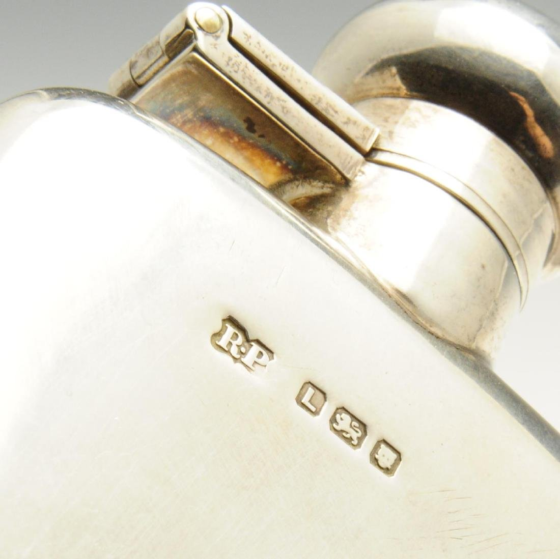 A mid-twentieth century small silver hip flask, of - 2