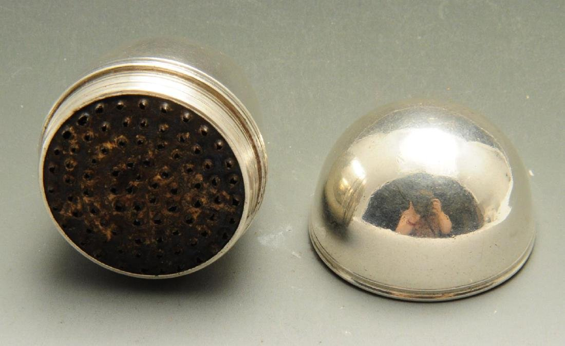 A Georgian nutmeg grater, of plain ovoid form with two - 2