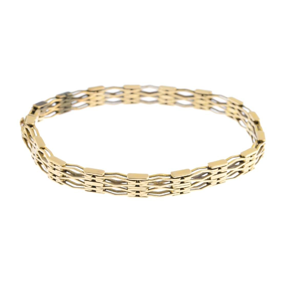 An early 20th century 15ct gold bracelet. Designed as a