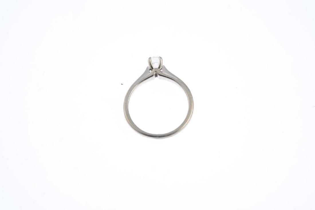 An 18ct gold diamond single-stone ring. The - 2