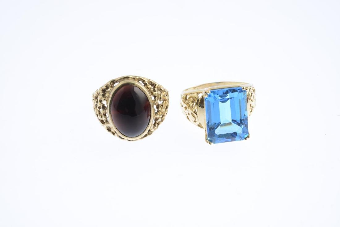 A topaz ring and a carnelian ring. To include an oval - 3