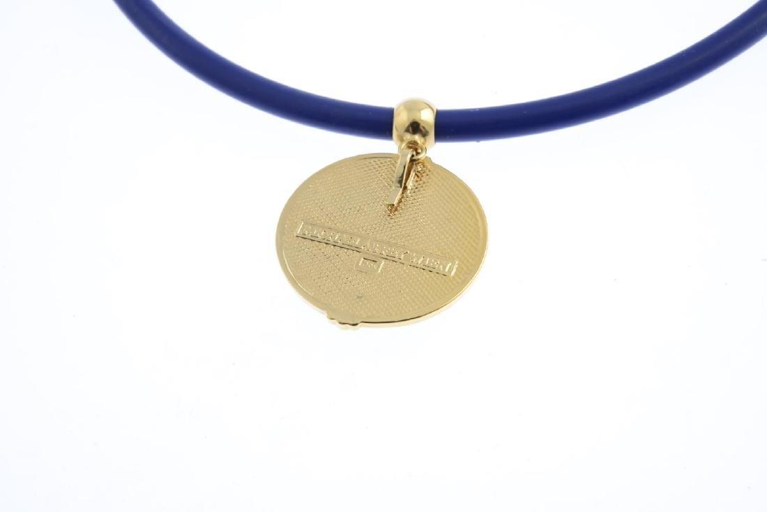 MICHAELA FREY - an enamel pendant. The circular enamel - 2