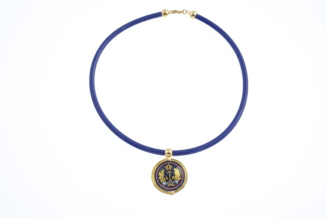 MICHAELA FREY - an enamel pendant. The circular enamel - 3