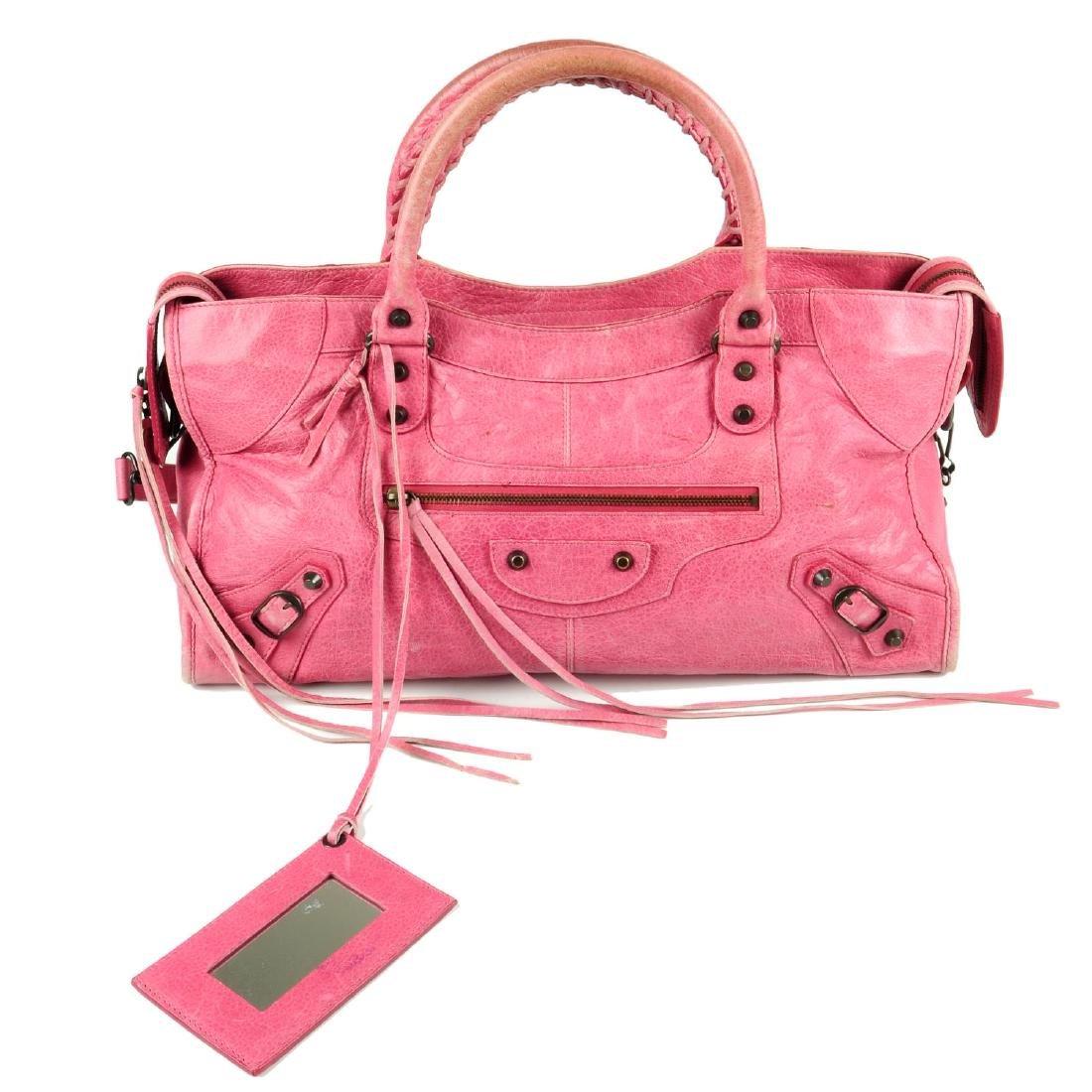 BALENCIAGA - a pink Part-Time handbag. Crafted from