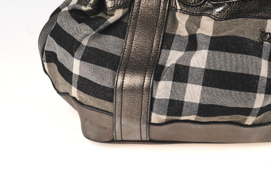 BURBERRY - a grey Shimmer Check Beaton handbag. - 3