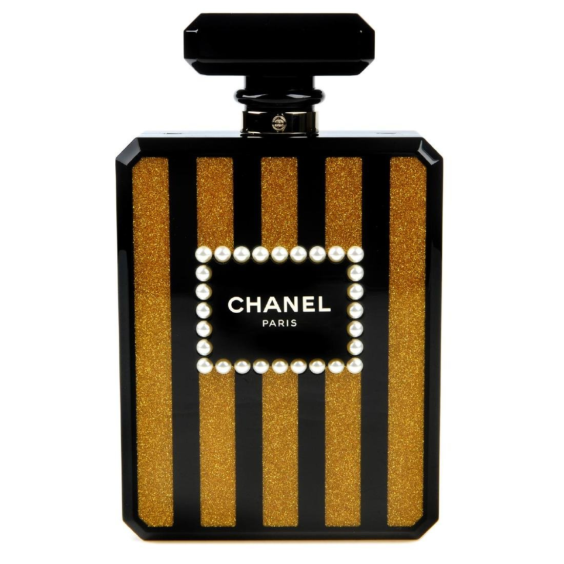 CHANEL - a Perfume Bottle Minaudière handbag. From the