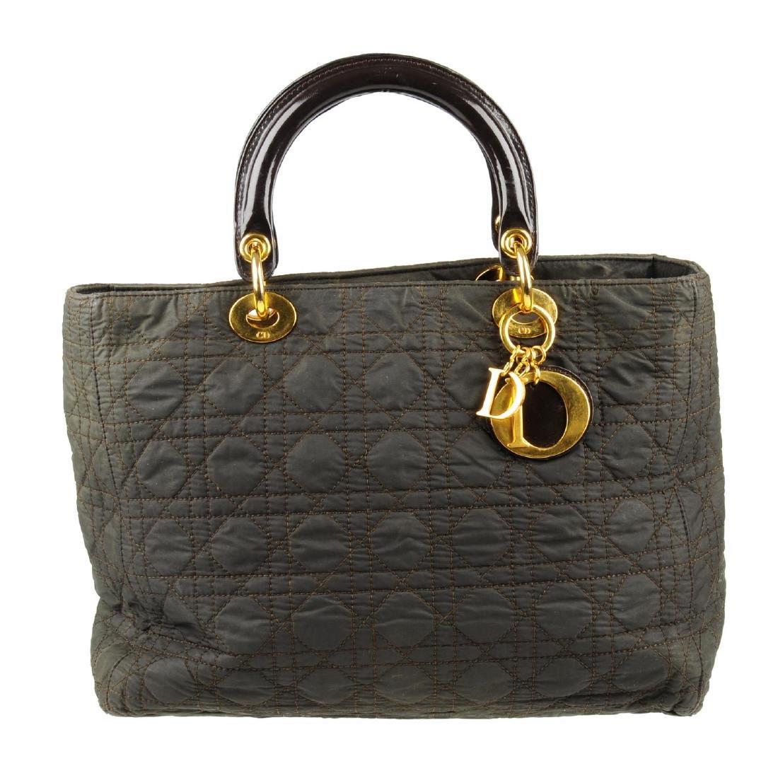 CHRISTIAN DIOR - a nylon Cannage Lady Dior handbag.